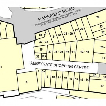 Abbeygate Shopping Centre Nuneaton stores plan