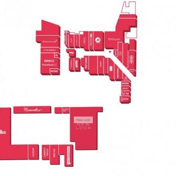 Arcades Shopping Centre stores plan