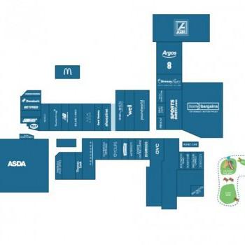Birchwood Shopping Centre stores plan