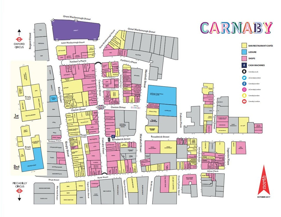 Carnaby Street Map Carnaby London   162 stores (shopping centre in London, London