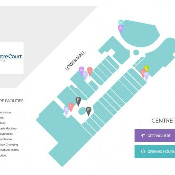 Centre Court Shopping stores plan