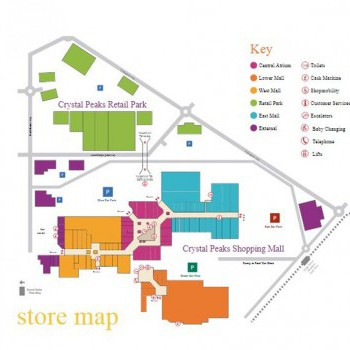 Crystal Peaks Shopping Mall and Retail Park stores plan
