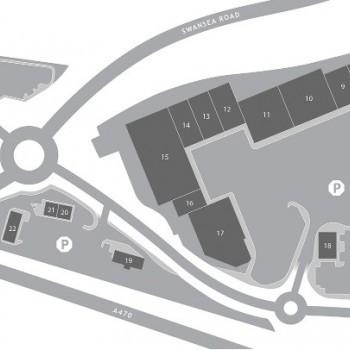 Cyfarthfa Retail Park stores plan