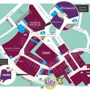 Eden Shopping Centre stores plan
