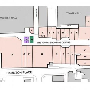 Forum Shopping Centre stores plan
