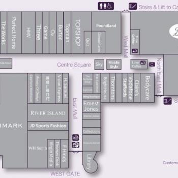 Four Seasons Shopping Centre stores plan