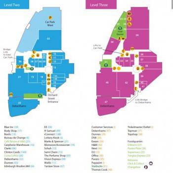 Foyleside Shopping Centre stores plan