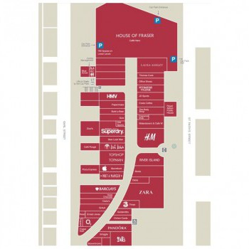 Fremlin Walk Shopping Centre stores plan
