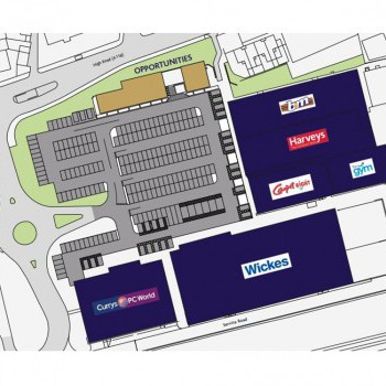 Goodmayes Retail Park, Chadwell Heath stores plan