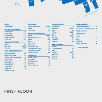 Grosvenor Shopping Centre stores plan