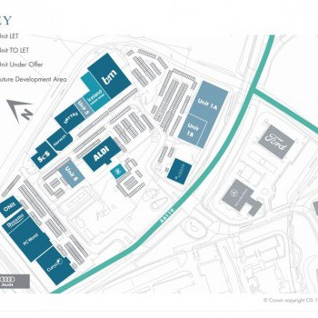 Hyndburn Retail Park (The Peel Centre) stores plan