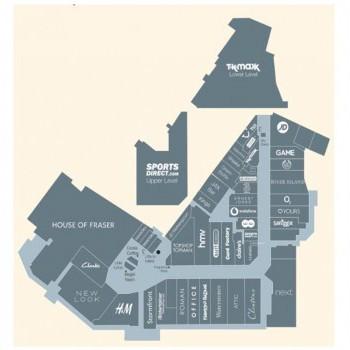 Kingsgate Shopping Centre stores plan