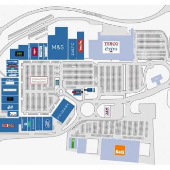 Parc Trostre Retail Park stores plan