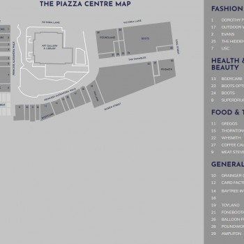 Piazza Shopping Centre stores plan