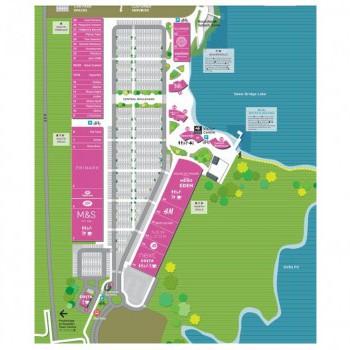 Rushden Lakes Shopping Centre stores plan