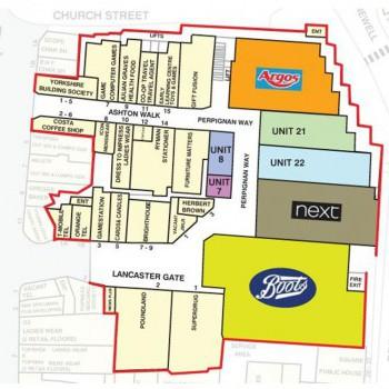 St. Nicholas Arcades stores plan
