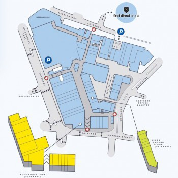 The Merrion Centre stores plan