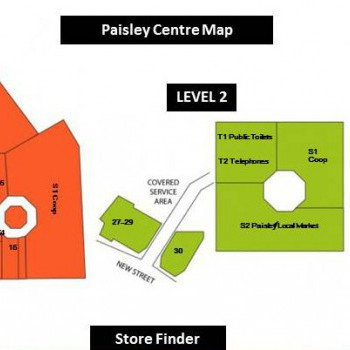 The Paisley Shopping Centre stores plan