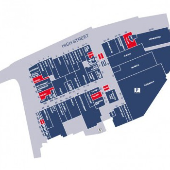The Pavilions Shopping Centre stores plan