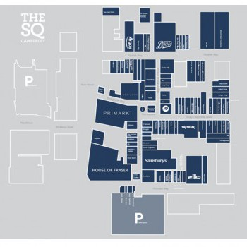 The Square Camberley stores plan