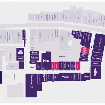 The Walnuts Shopping Centre stores plan
