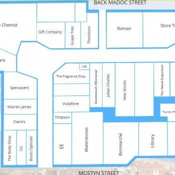Victoria Centre Llandudno stores plan