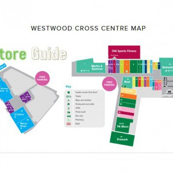 Westwood Cross Shopping Centre stores plan