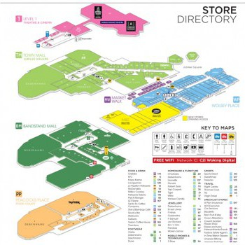 Woking Shopping Centre stores plan